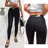 Стильные удобные белые стрейчевые джинсы Skinny с завышенной талией   S,M,L,XL, фото 3