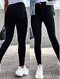 Стильные удобные белые стрейчевые джинсы Skinny с завышенной талией   S,M,L,XL, фото 6