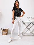 Стильные удобные белые стрейчевые джинсы Skinny с завышенной талией   S,M,L,XL, фото 7