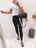 Стильные удобные белые стрейчевые джинсы Skinny с завышенной талией   S,M,L,XL, фото 9