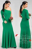 Красивое стильное платье в пол на одно плечо. Арт-3841/31.