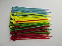 Стяжки кабельные 2,5 х 100мм, 4 цвета по 25 штук
