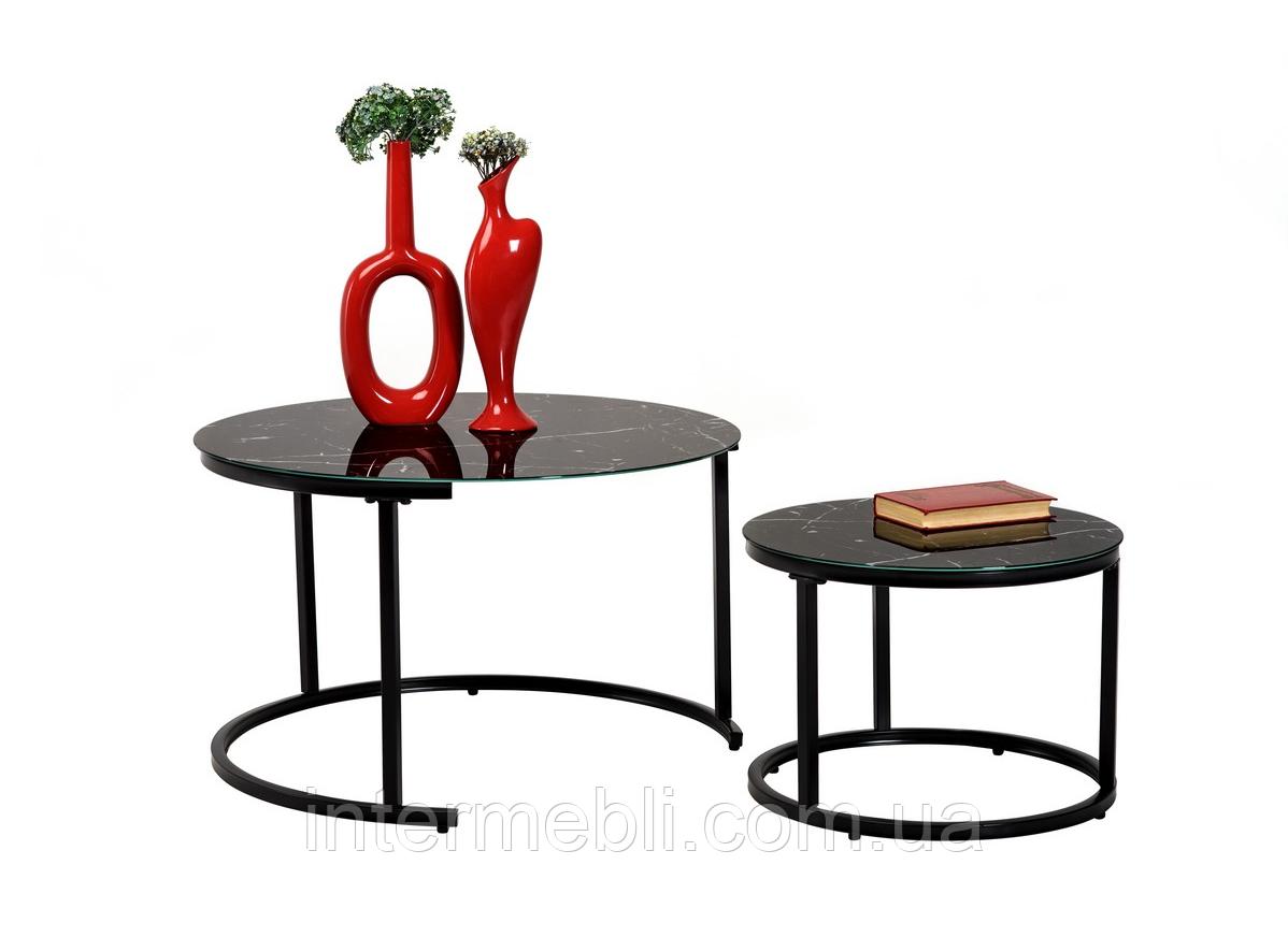 Комплект журнальных столов Vetro CS-25 черный мрамор