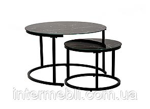 Комплект журнальных столов Vetro CS-25 черный мрамор, фото 2