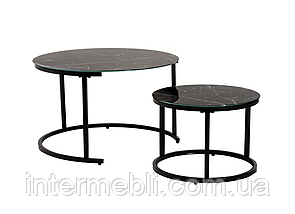 Комплект журнальных столов Vetro CS-25 черный мрамор, фото 3