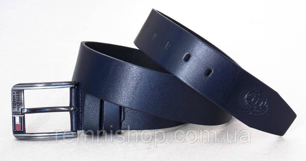 585f971ea9fd Кожаный мужской ремень темно-синий