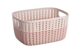 Корзина плетеная Ardesto Sweet Home 235х176х120 мм 3 л розовая (AR1730BP)