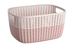 Корзина плетеная Ardesto Sweet Home 286x215x150 мм 6,8 л розовая (AR1768BP)