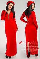 Платье стильное в пол с разрезом. Арт-3843/31. Платье длинное , в пол