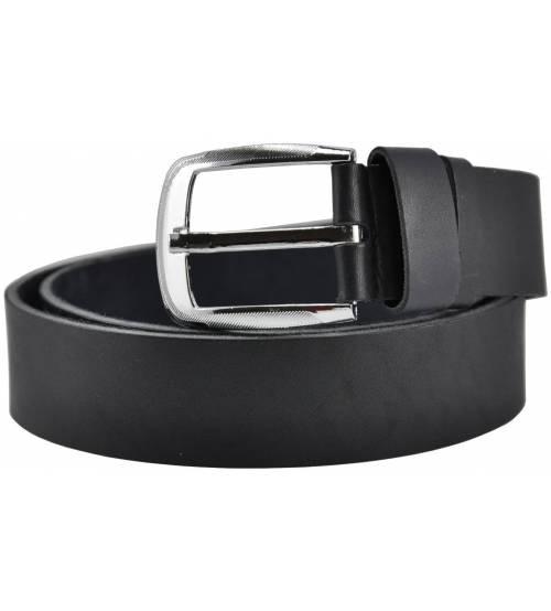 Кожаный ремень 76-32 шнурочек черный 4 см