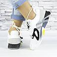 Кросівки жіночі білі літні комбіновані (b-693), фото 7