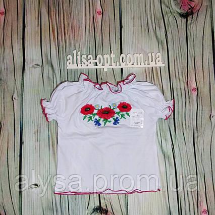Вышиванка для девочки с коротким рукавом (кулир-пенье)