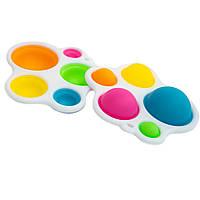 Симпл димпл сенсорная игрушка-брелок разноцветный на 5 пузырьков, Simple dimple игрушка антистресс поп ит (NS)