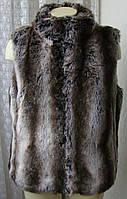 Жилет женский меховой зимний теплый бренд TU р.52 4690