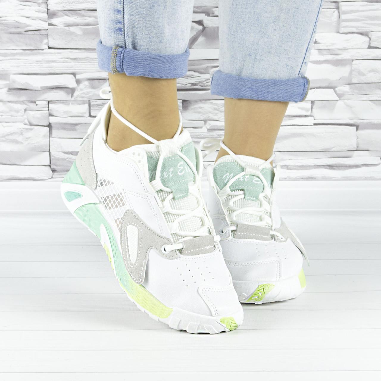Кросівки жіночі білі літні комбіновані (b-694)