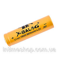 Акумулятор 18650 Li-ion X-Balog 8800 mAh (250 mAh) 4.2v Gold, акумуляторна батарея літієва | 18650 аккумулятор