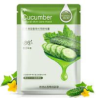 Зволожуюча маска для обличчя з огірком для чутливої шкіри Hchana Cucumber Natural Skin Care Mask