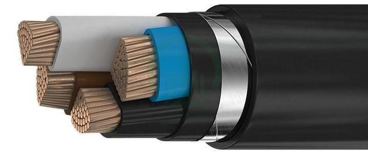 Силовой медный бронированный кабель ВБбШвнг 3*240+1*120
