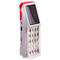 Ліхтар на сонячній батареї світлодіодний переносний для кемпінгу HONG SHENG Білий-червоний (SW209)