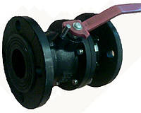 Кран шаровый чугунный д. 25  Pn 16 для жидких сред