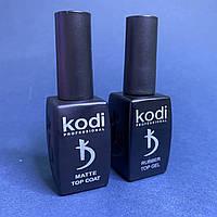 Топ матовый и топ каучуковый с липким слоем Kodi Professional набор по 12мл
