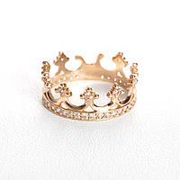 Золотое кольцо корона с фианитами КП1603