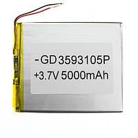 Аккумулятор для планшета 5000 mAh 3.5x93x105 мм