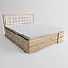 Кровать деревянная двуспальная Регина с подъемным механизмом (массив ясеня), фото 2