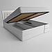 Кровать деревянная двуспальная Регина с подъемным механизмом (массив ясеня), фото 3