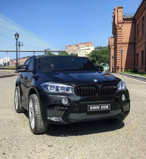 Детский электромобиль BMW X6M черный