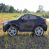 Детский электромобиль BMW X6M черный, фото 5