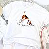 Жіноча футболка Адхо мукха шванасана