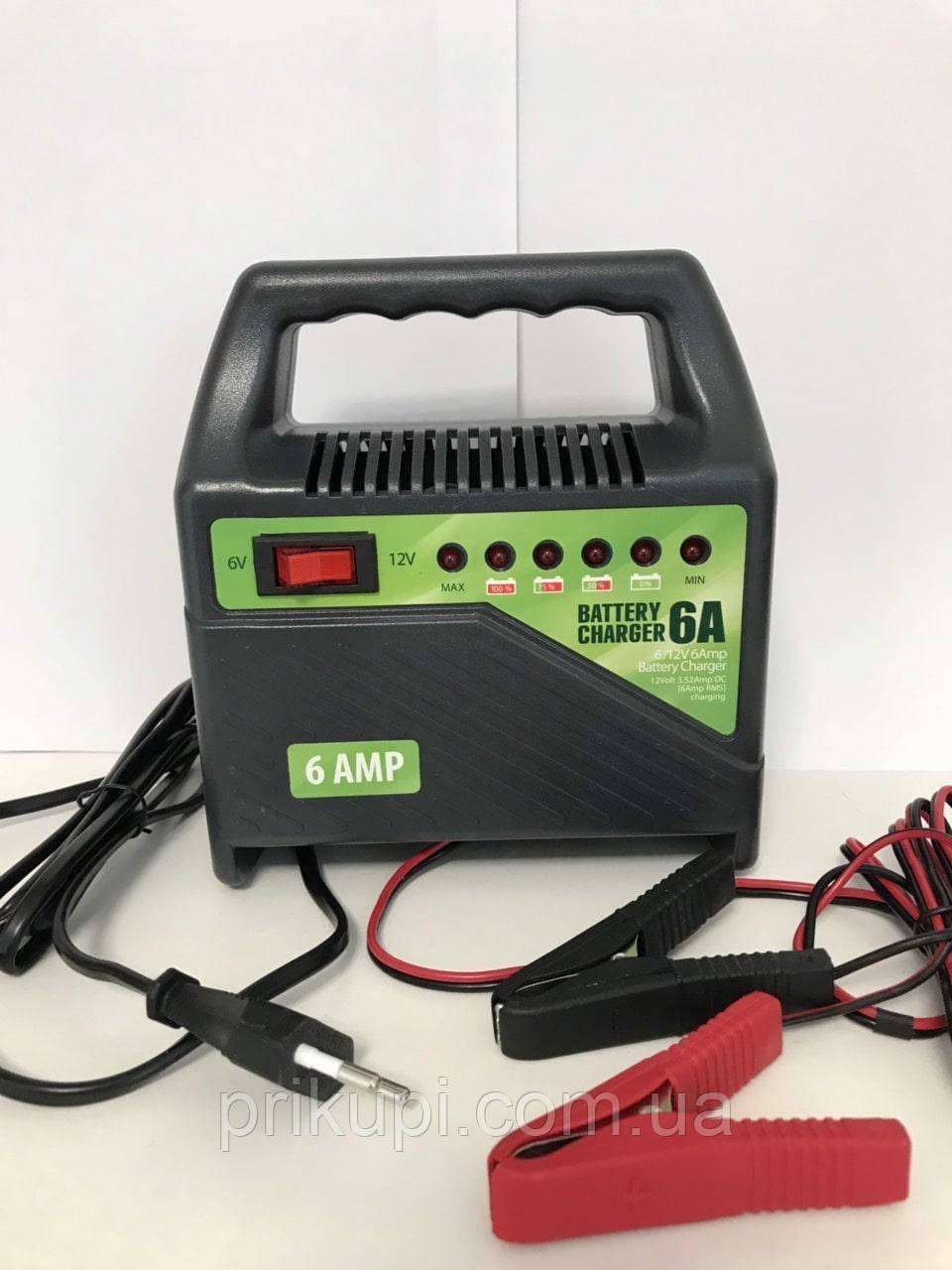 Зарядний пристрій для автомобільних акумуляторів Pulso BC-15860 6-12В | 6A | 15-80Ач | світлодіод