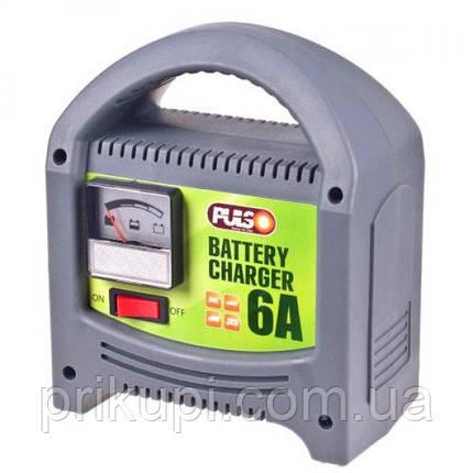 Зарядное устройство Pulso BC-20860 для автомобильного аккумулятора   6-12V 6A/20-80AH   стрел.индик., фото 2