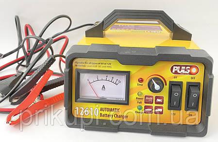 Зарядное устройство Pulso BC-12610 для автомобильного аккумулятора с ручной регулировкой тока 6-12В |10А, фото 2