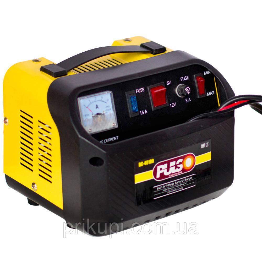 Зарядний пристрій Pulso BC-40100 для автомобільного акумулятора   6-12V 10A/12-200AH   стріл.индик.