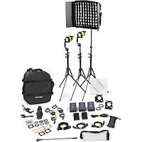 Dedolight DLED4.1/Felloni 2x1 Bi-Color 3-Light Battery Kit (Battery Operation) (BLED2X1-BI-BAT)