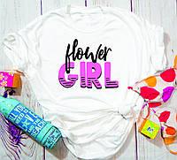Жіноча футболка Flower girl, фото 1