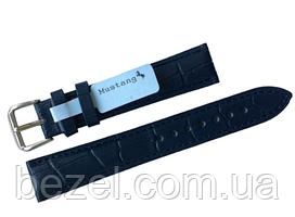 Ремінець для годинника з шкіри Mustang Standart 24 мм, сталева бакля