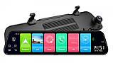 """Відеореєстратор Z68 Дзеркало 12"""" Екран сенсор - 2 камери ADAS + GPS навігатор + WiFi + Android + 4G LTE, фото 4"""
