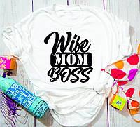 Жіноча футболка Wibe mom boss, фото 1