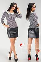 Красивое стильное платье с воротничком. Арт-3853/31.