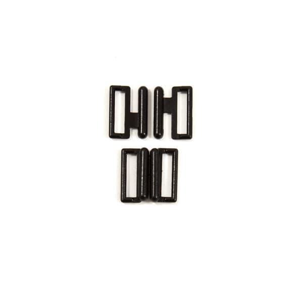 Застежка для купальника, черная эмаль, 1 см