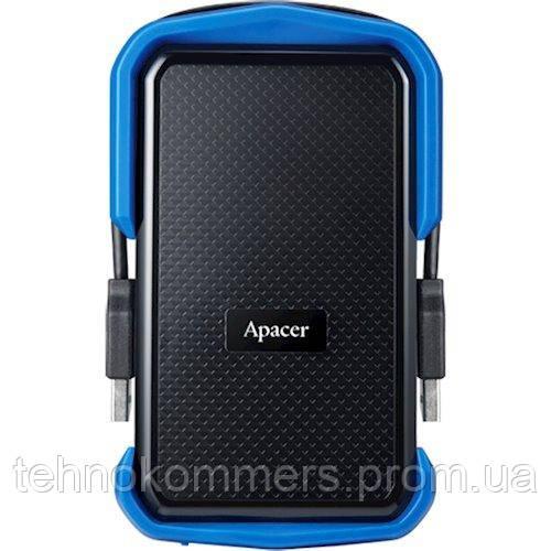 """Жорстку зовнішній диск USB Apacer 3.1 Gen1 AC631 2TB 2,5"""" Чорно-синій, фото 2"""
