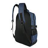 Рюкзак городской универсальный тканевый синий, фото 4
