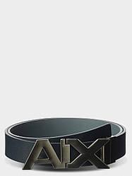 Armani Exchange Ремень мужской кожаный Blue (34-40 р.)