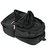 Рюкзак універсальний текстильний чорний, фото 4