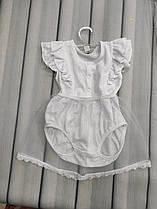 Крестильное легкие боди-платье на лето