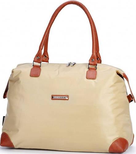 Удобная женская сумка из больньевой ткани Dolly (Долли) 453 бежевый