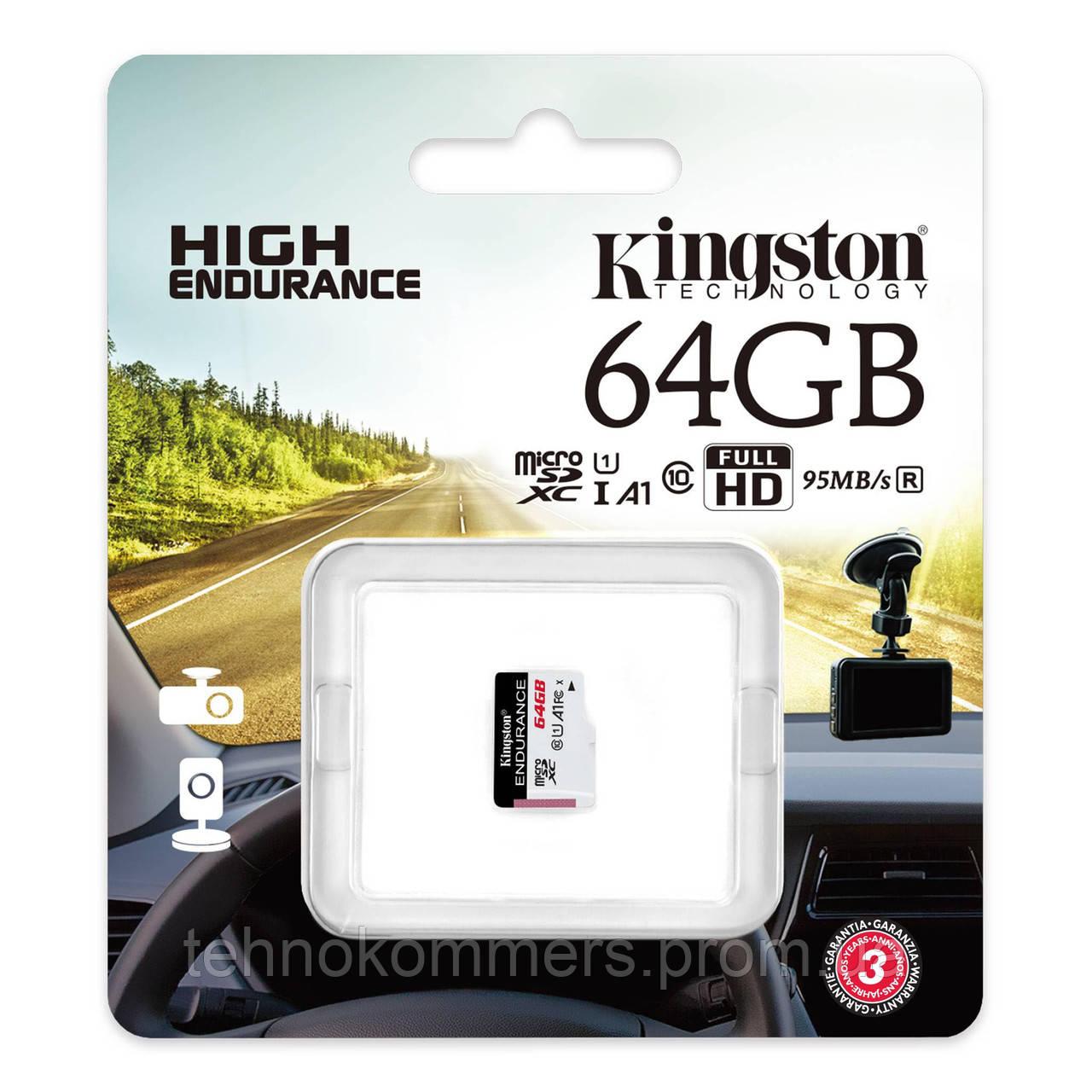 Карта пам'яті Kingston microSDXC 64GB Class 10 UHS-I (U1) A1 W-30MB/s R-95MB/s Без адаптера